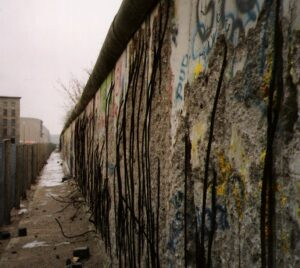 The Berlin Wall in 1990