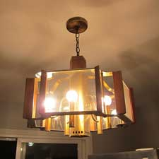 Horrible light fixture from the 70's