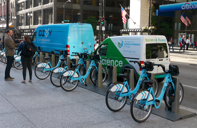 Bikes In Chicago Divvy Bikes are available to