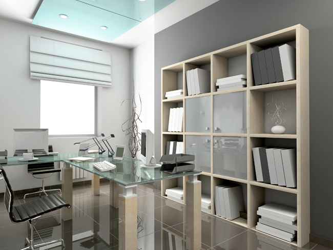 Modern interior office at home