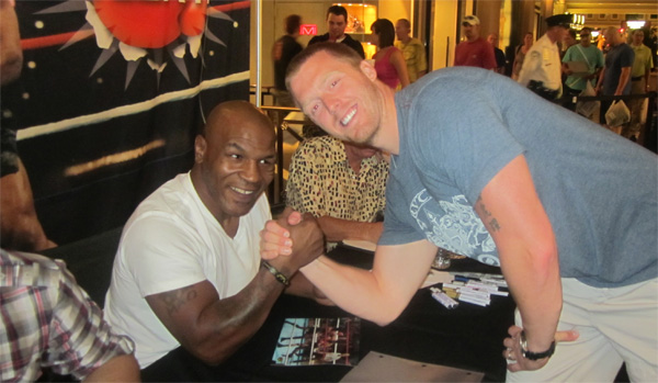 Mike Tyson and Aaron Hoddinott