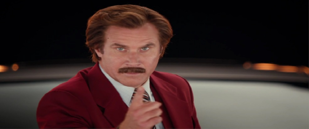 Hillary Clinton reminded me of Ron Burgundy