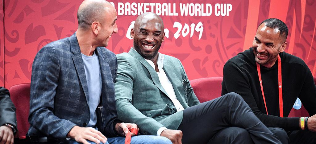 Kobe Bryant at basketball game in Spain
