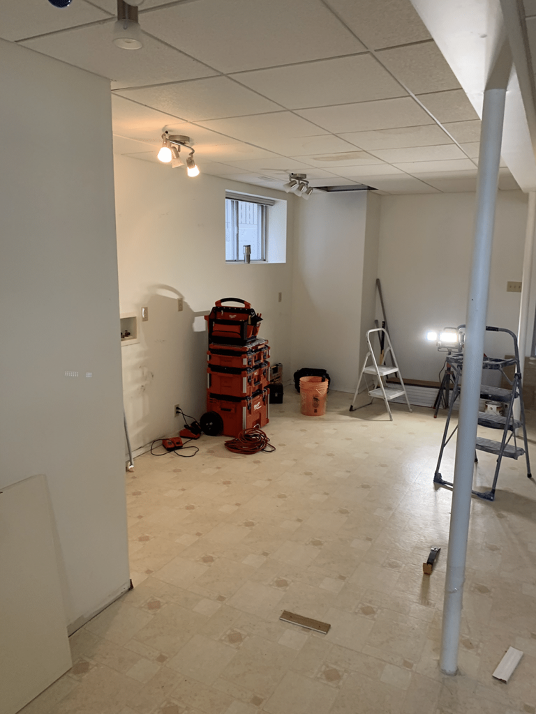 Basement suite renovations