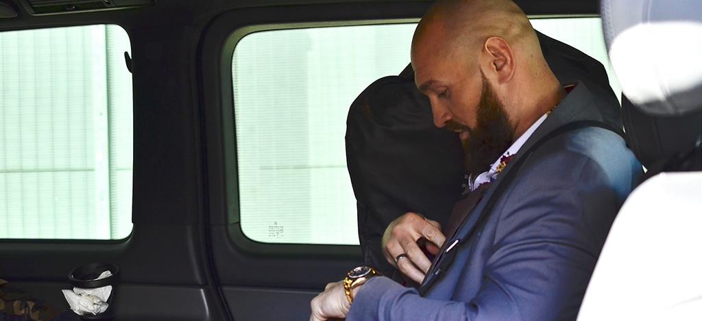 Tyson Fury in a car
